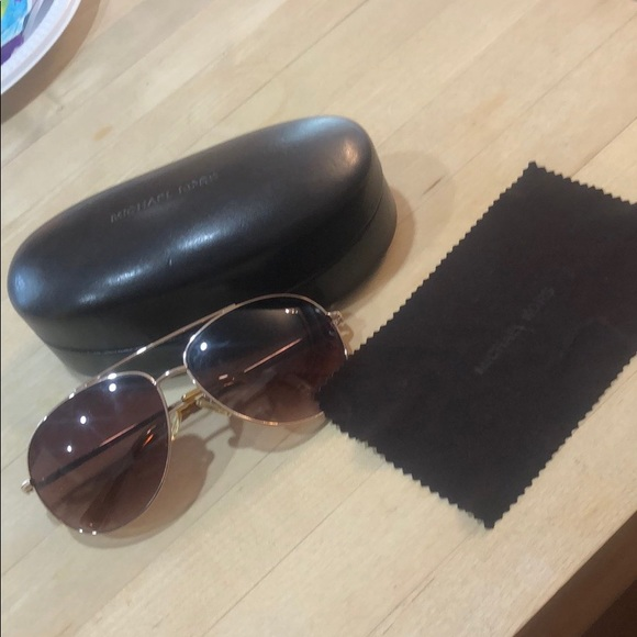 Michael Kors sunglasses with the case and cloth